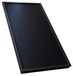 vlakke plaat zonnecollector pakketten met een zwarte collector
