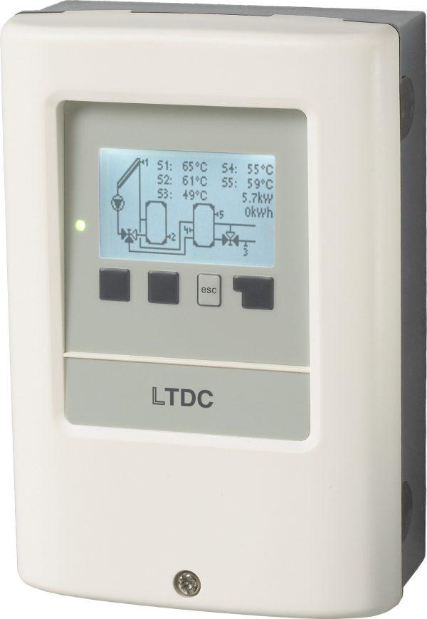 Zonneboiler controller, Delta T regeling grote zonneboilers